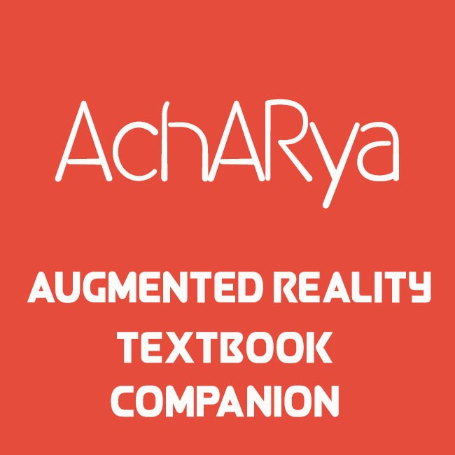 An Augmented Reality Textbook Companion App - AchARya, literally translates to teacher from Sanksrit. Built for the 32-Hour Startup Challenge in Unity3D, the app uses Vuforia SDK. Specific diagrams in the book are chosen and indexed, pointing the app camera on which displays interactive content like 3D models or videos. Date: August 2015