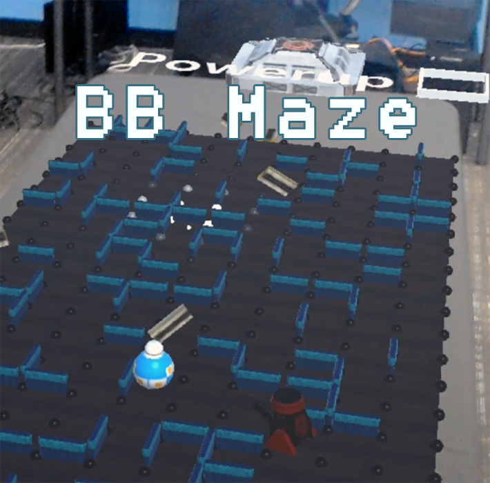 Help BB-8 navigate the maze and escape BB-Hate. A Mixed Reality game developed for Hololens with Unity3D. Platform: Microsoft Hololens, Team Size: 5, Duration: 2 weeks. Date: Fall 2017