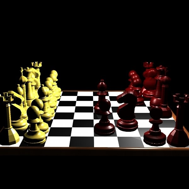 A 3D model of chess board and pieces created using Maya 2016. Hypershade has been used to add materials and textures. Date: July 2016